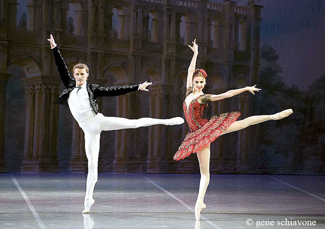 Don Quixote with Anastasia and Denis Matvienko. Photo Gene Schiavone